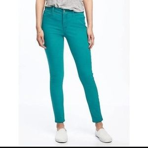 Jcrew Toothpick Ankle Jeans 31 Blue Turquoise